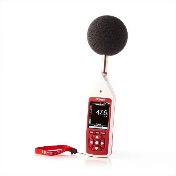 Optimus Rouge sonometre integrateur au travail